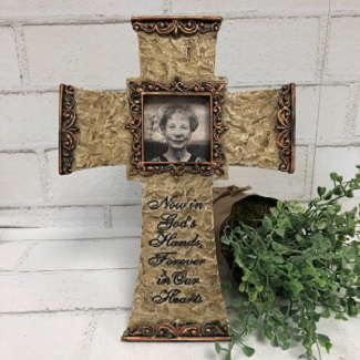 This Memorial Cross Frame is a gift of sympathy that will touch their hearts.
